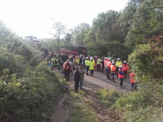 20 septembre 2017 : blocage des machines de déboisement à Kolbsheim