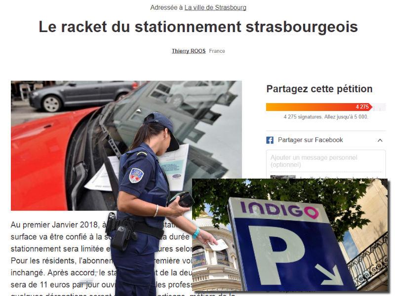 petition racket stationnement strasbourg
